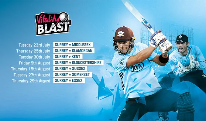 Surrey v Essex: T20 Blast tickets in Kennington at The KIA Oval on