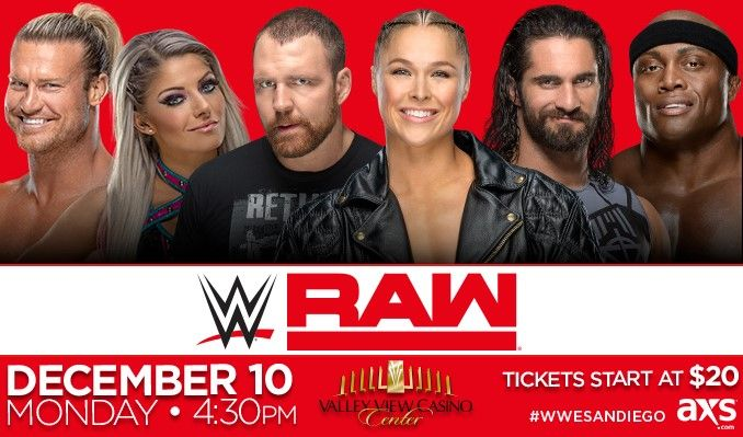 WWE RAW tickets at Valley View Casino Center in San Diego