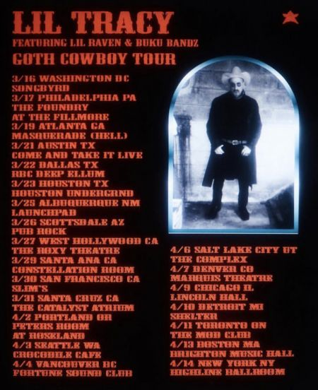 Image result for goth cowboy tour lil tracy
