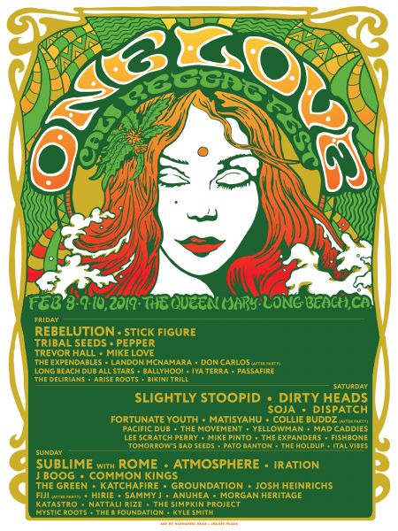 The 2019 One Love Cali Reggae Fest returns to the Queen Mary Events Park in Long Beach, California, from Feb. 8-10. Tickets are available at