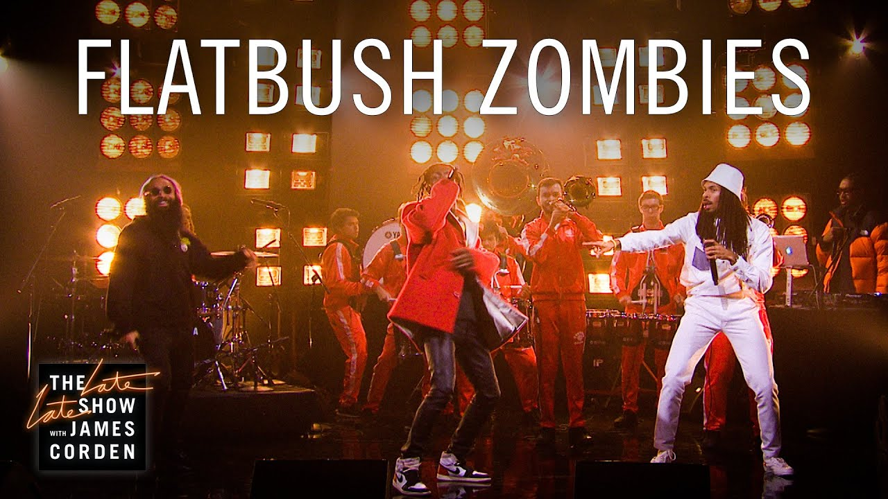 Watch: Flatbush Zombies and USC Marching Band jam out 'Headstone' on 'Corden'