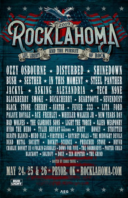 Rocklahoma 2019 lineup courtesy of Rocklahoma's website