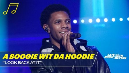 Watch: A Boogie Wit da Hoodie performs 'Look Back At It' on 'Late Night'