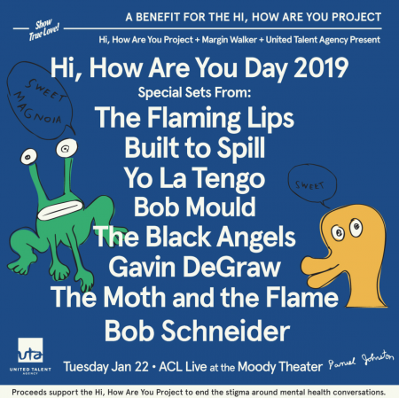 TheHi, How Are You Day concert will benefit the Hi, How Are You Project to raise awareness for mental illness.