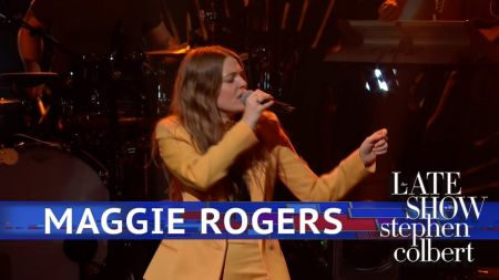 Watch: Maggie Rogers serves up sizzling performance of 'Burning' on 'Colbert'