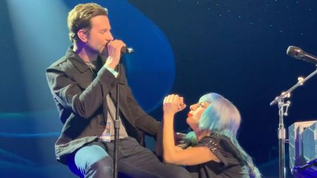 Watch: Lady Gaga brings out Bradley Cooper for surprise 'Shallow' duet in Las Vegas