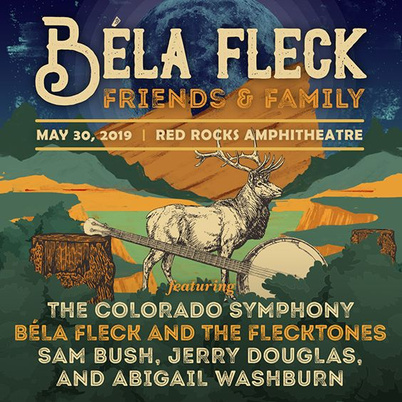 Thumbnail for Bela Fleck: Friends & Family featuring The Colorado Symphony, Bela Fleck & the Flecktones, Sam Bush, Jerry Douglas and Abigail Washburn
