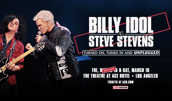 Billy Idol & Steve Stevens tickets at Theatre at Ace Hotel in Los Angeles