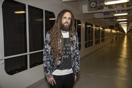 "Brian ""Head"" Welch poses for a portrait during ShipRocked promoting the movie Loud Krazy Love onboard the Carnival Valor."