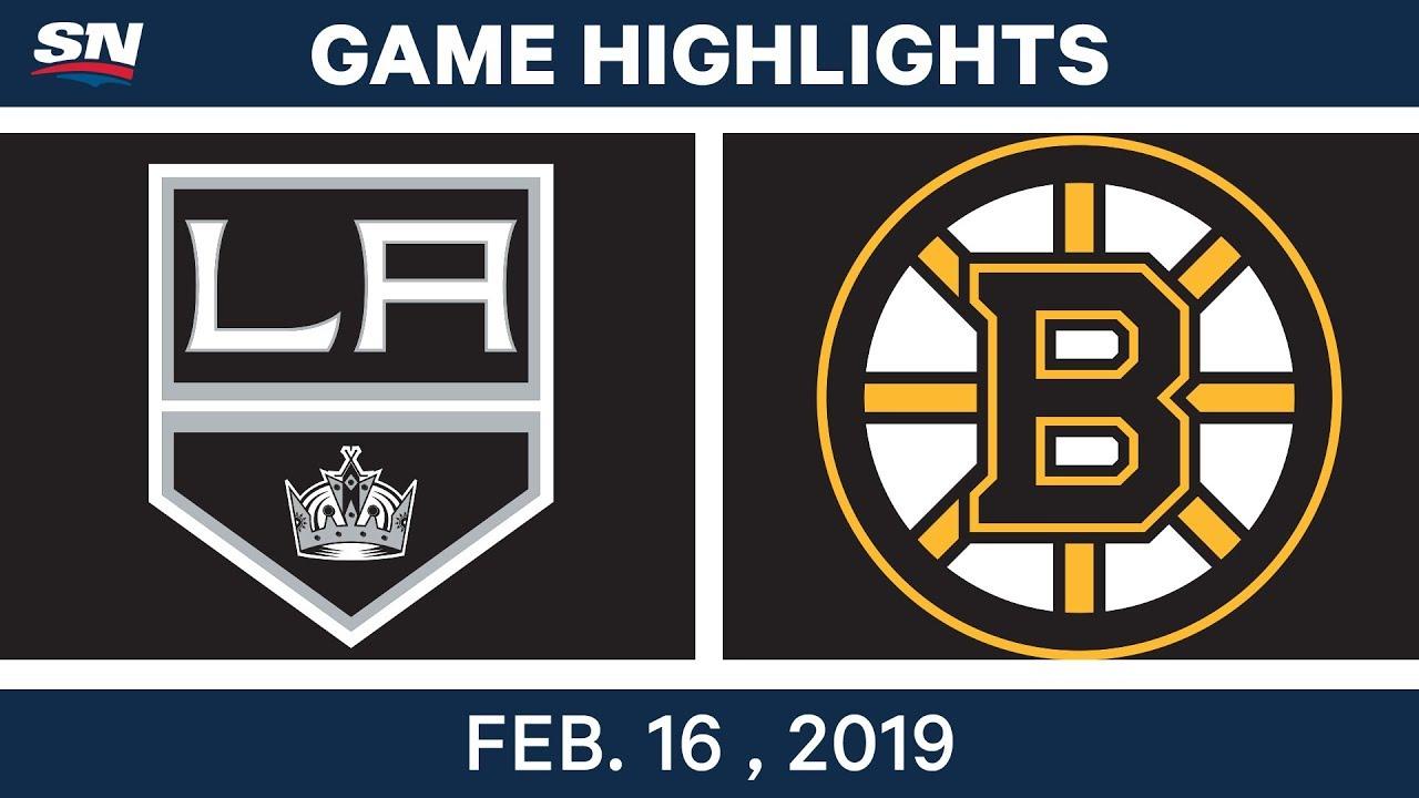 LA Kings best plays from Feb. 16 game against Boston Bruins