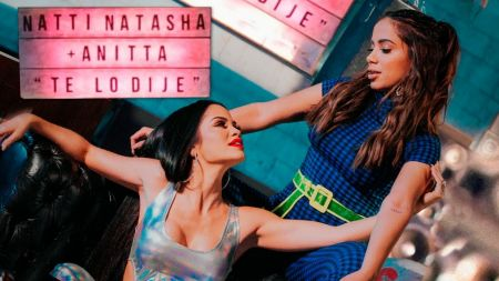 Natti Natasha & Anitta play games in 'Te Lo Dije' music video