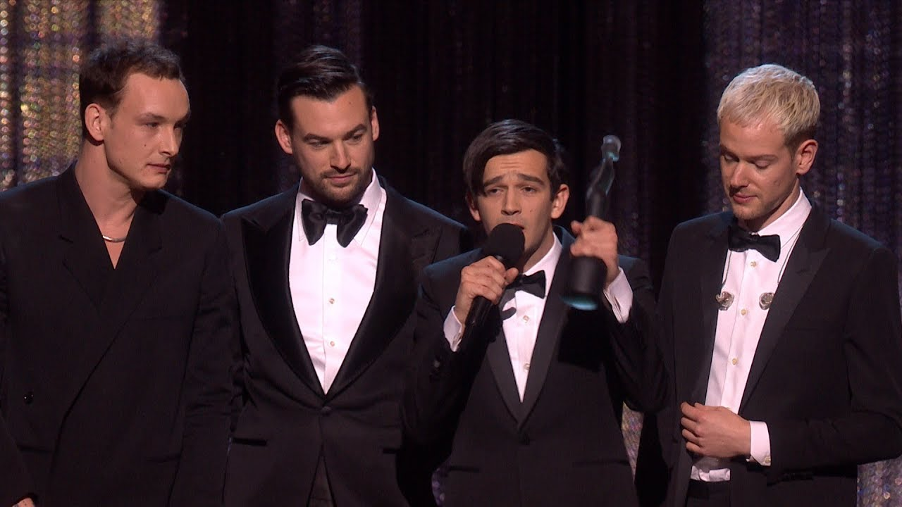 The 1975 wins best British Group & Album of the Year at 2019 BRIT Awards
