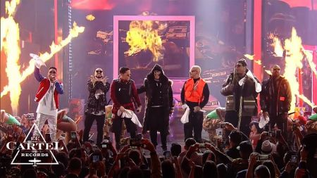 J Balvin & Ozuna salute reggaeton pioneer Daddy Yankee with Premio Lo Nuestro performance