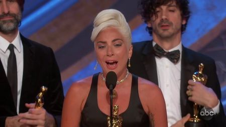 Watch: Lady Gaga wins Oscar for Best Original Song for 'Shallow' at the 91st Academy Awards