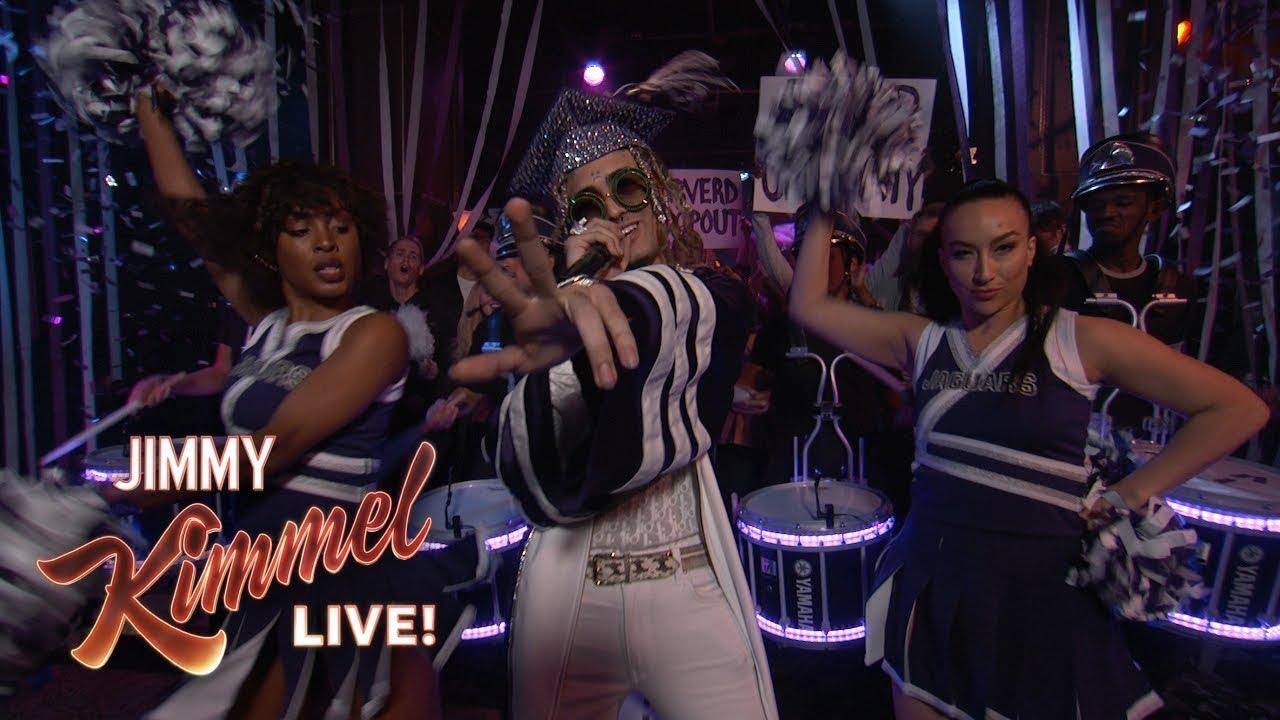 Watch: Lil Pump rocks 'Be Like Me' performance on 'Jimmy Kimmel Live'