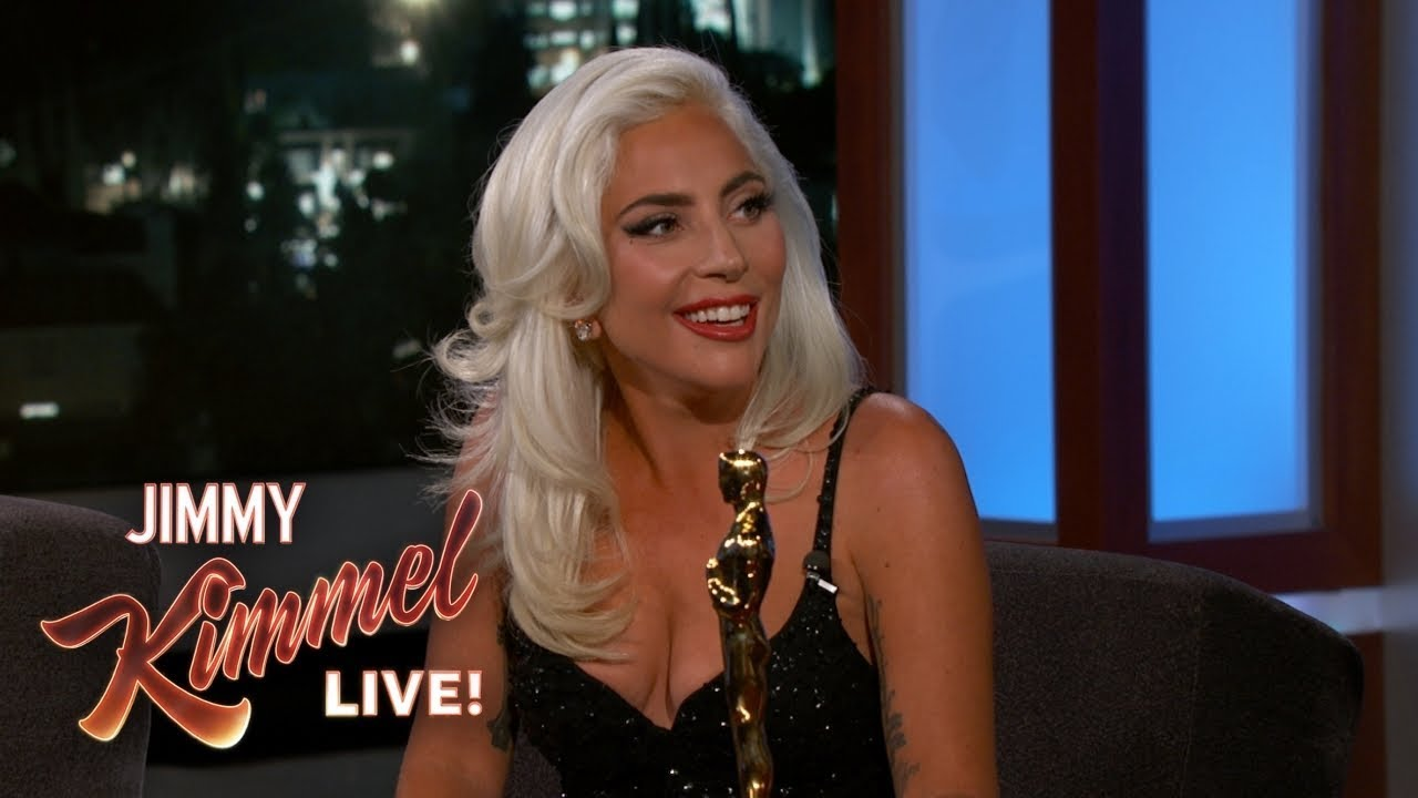 Watch: Lady Gaga talks Oscar win and Bradley Cooper duet on 'Kimmel'