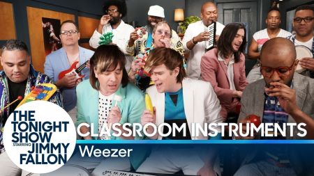 Watch: Weezer, Jimmy Fallon and The Roots tackle 'Take On Me' with classroom instruments