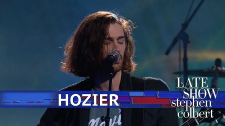 Watch: Hozier pays lyrical tribute to jazz legends in 'Almost (Sweet Music)' performance on 'Colbert'
