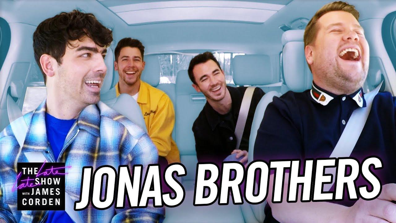 Watch: Jonas Brothers take lie detector test during 'Carpool Karaoke' on 'The Late Late Show'