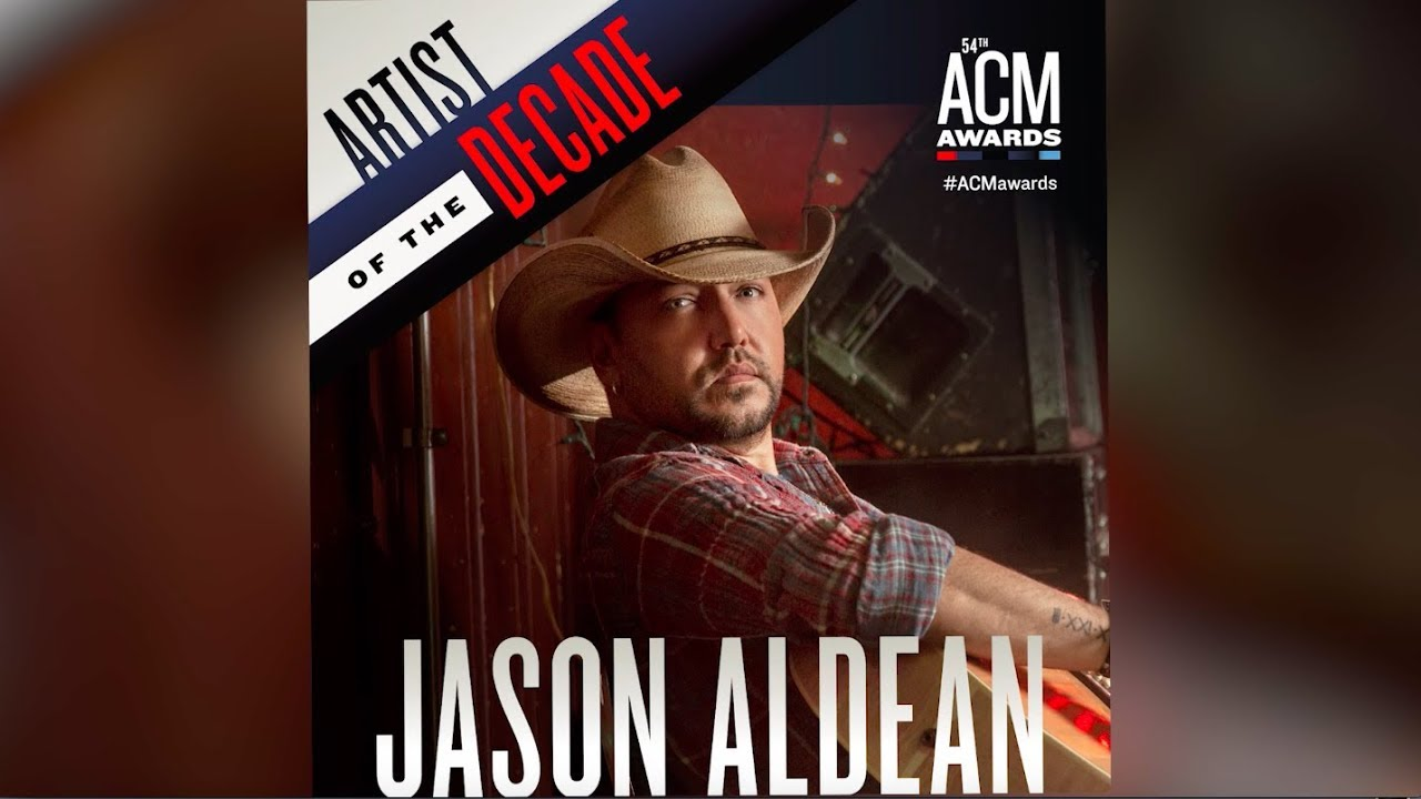 Jason Aldean to receive Artist of the Decade Award at the 54th ACM's