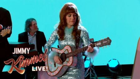 Watch: Jenny Lewis performs 'Red Bull & Hennessy' on 'Jimmy Kimmel Live'
