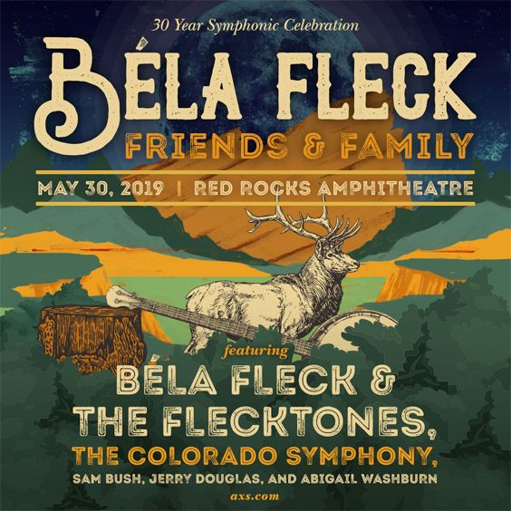 Image for Bela Fleck: Friends & Family featuring The Colorado Symphony, Bela Fleck & the Flecktones, Sam Bush, Jerry Douglas and Abigail Washburn