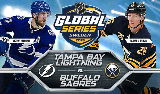 2019 NHL Global Series: Buffalo Sabres vs. Tampa Bay Lightning tickets at ERICSSON GLOBE/Stockholm Live in Stockholm