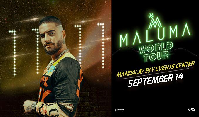 Maluma 11 11 World Tour Tickets In Las Vegas At Mandalay Bay