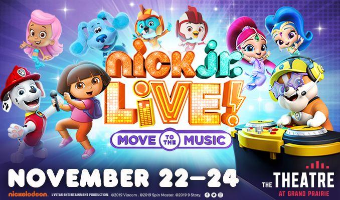 Nick Jr. LIVE! tickets at The Theatre at Grand Prairie in Grand Prairie