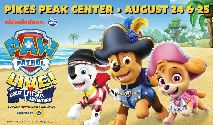 PAW Patrol Live! tickets at Pikes Peak Center in Colorado Springs