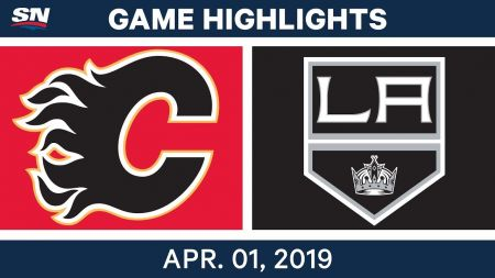 LA Kings best plays from April 1 game against Calgary Flames