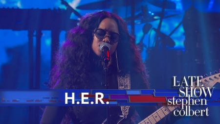 Watch: H.E.R. perform 'Hard Place' on 'The Late Show with Stephen Colbert'