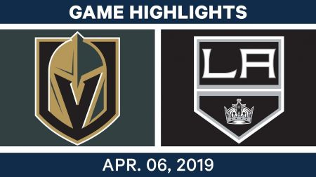 LA Kings best plays from April 6 game against Vegas Golden Knights