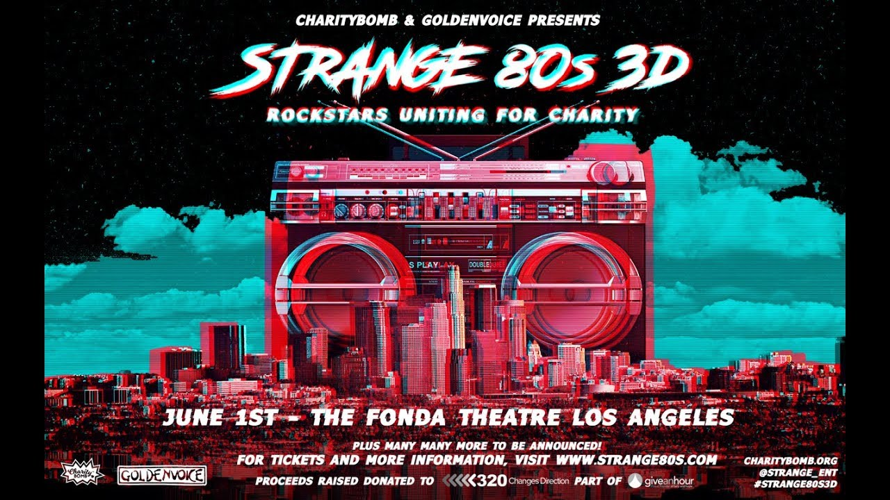 Strange 80s 3D with members of CHVRCHES, Weezer, and more at Fonda Theatre