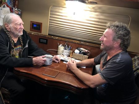 AXS TV's 'Rock & Roll Road Trip' season 4 premiere: Willie Nelson chats with Sammy Hagar on May 5
