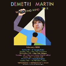 Demetri Martin Tour 2020 Demetri Martin: Wandering Mind Tour tickets in London at London