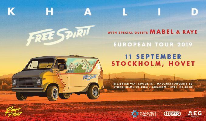 Khalid tickets at HOVET/Stockholm Live in Stockholm