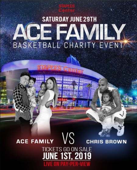 ACE Family Charity Basketball Event Flyer