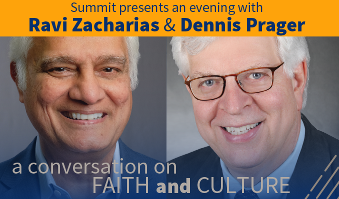 An Evening with Ravi Zacharias & Dennis Prager tickets at Pikes Peak Center in Colorado Springs