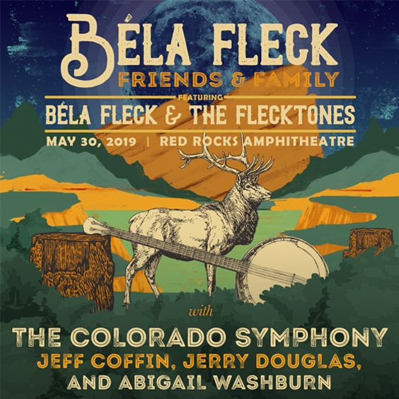 Image for Bela Fleck: Friends & Family featuring The Colorado Symphony, Bela Fleck & the Flecktones, Jeff Coffin, Jerry Douglas and Abigail Washburn