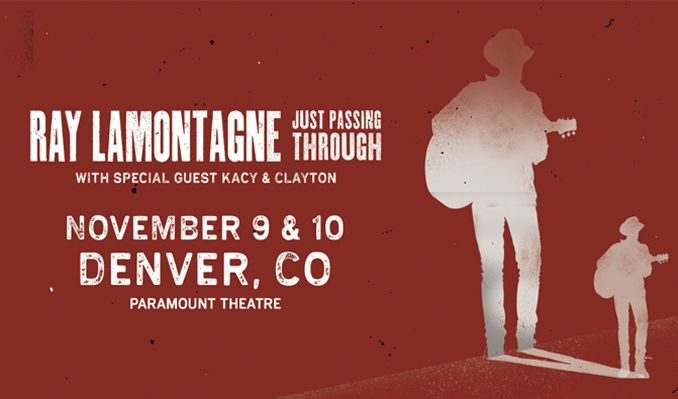 Ray LaMontagne tickets at Paramount Theatre in Denver