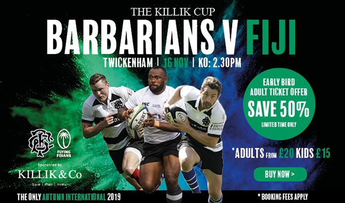 The Killik Cup – Barbarians v Fiji tickets at Twickenham Stadium in Twickenham