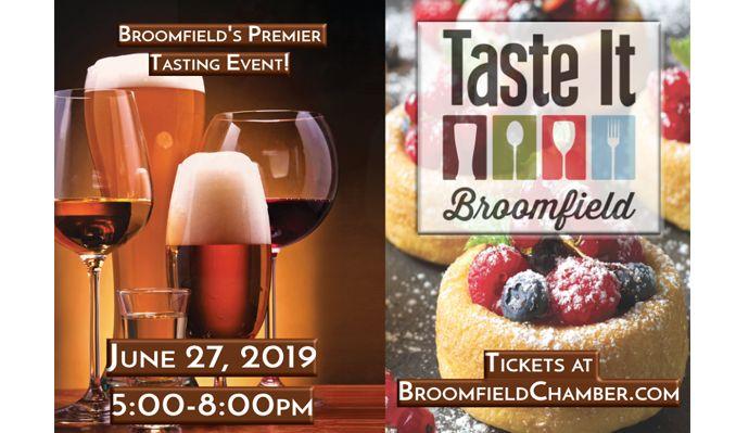 2019 Taste It Broomfield! tickets at 1STBANK Center in Broomfield
