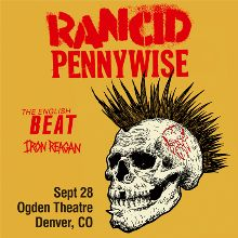 Rancid / Pennywise  tickets at Ogden Theatre in Denver