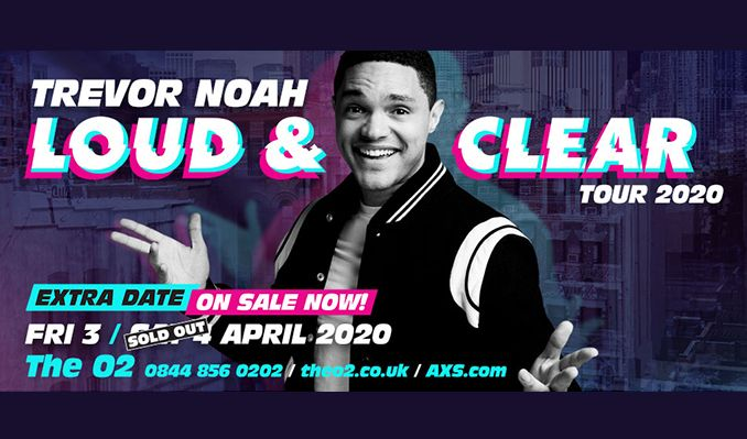 Trevor Noah Tour 2020 Trevor Noah   EXTRA SHOW ADDED tickets in London at The O2 on Fri
