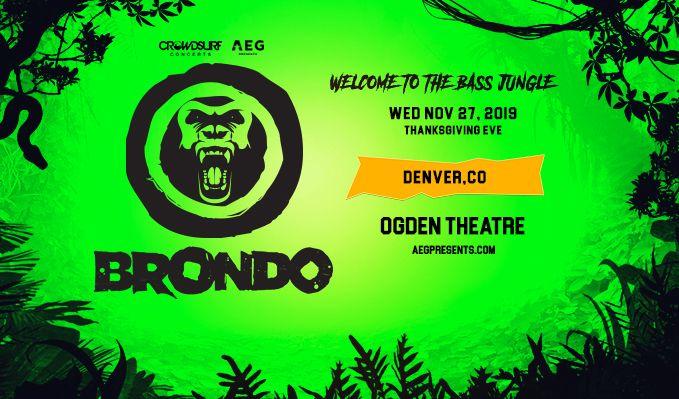 Brondo tickets at Ogden Theatre in Denver