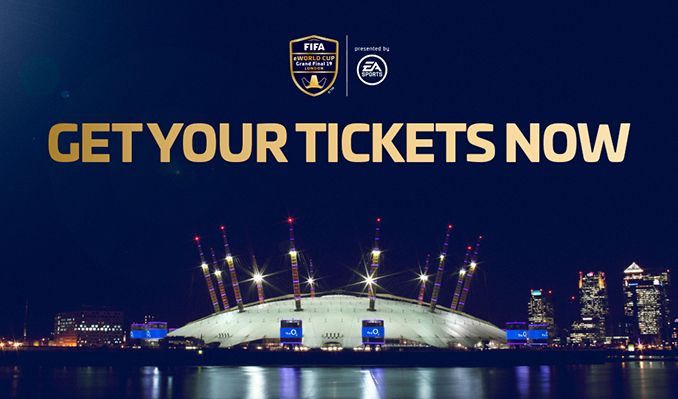 FIFA eWorld Cup 2019 tickets at The O2 in London