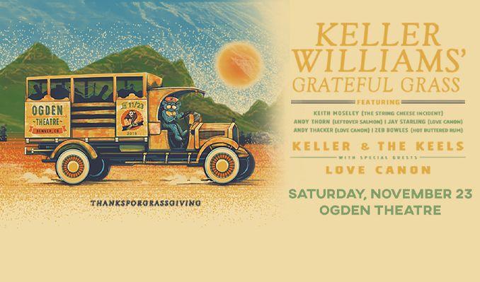Keller Williams Grateful Grass tickets at Ogden Theatre in Denver