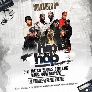 Legends of Hip Hop | The Theatre at Grand Prairie