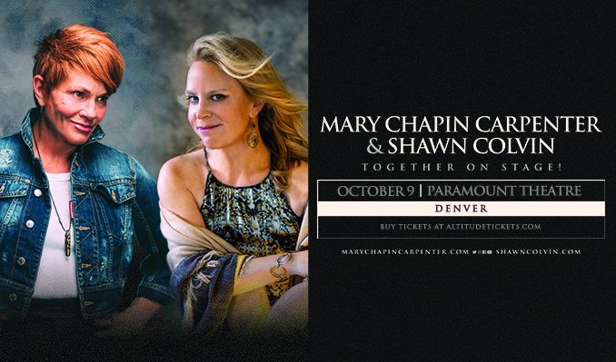 Mary Chapin Carpenter Tour 2020 An Evening With Mary Chapin Carpenter & Shawn Colvin tickets in